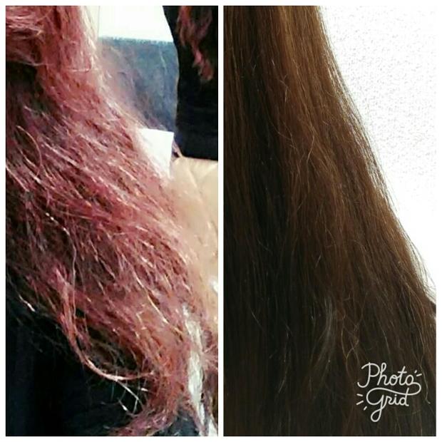 之前毛燥的頭髮跟現在有保養的頭髮