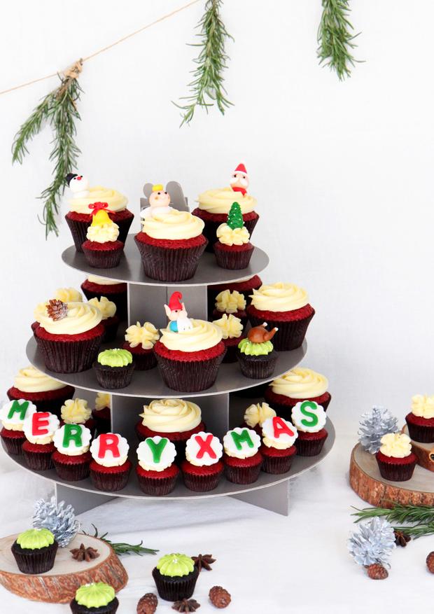 讓可愛充滿聖誕節!貝貝西點限定杯子蛋糕!